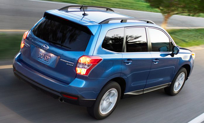 Subaru Forester in a blue colour
