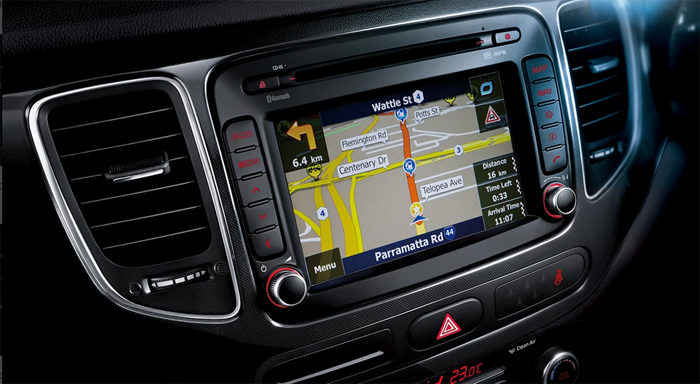 Kia Rondo's on board sat nav