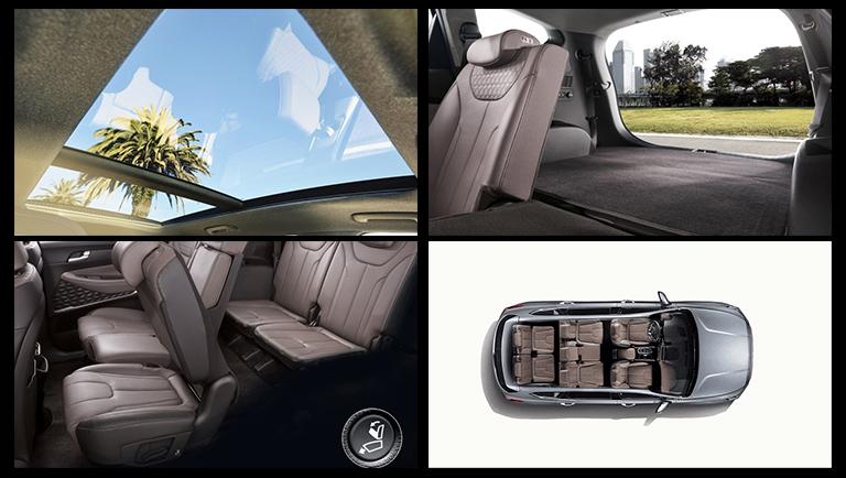 Hyundai Santa Fe from the inside