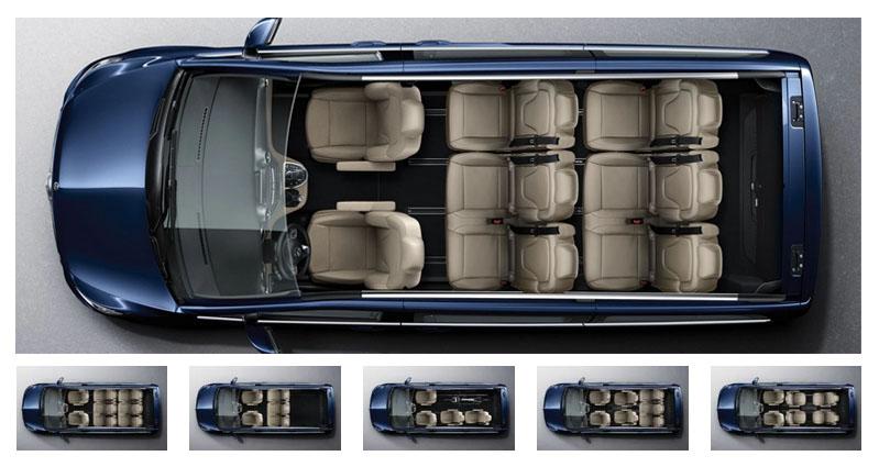 Mercedes-Benz V-Class seating arrangements